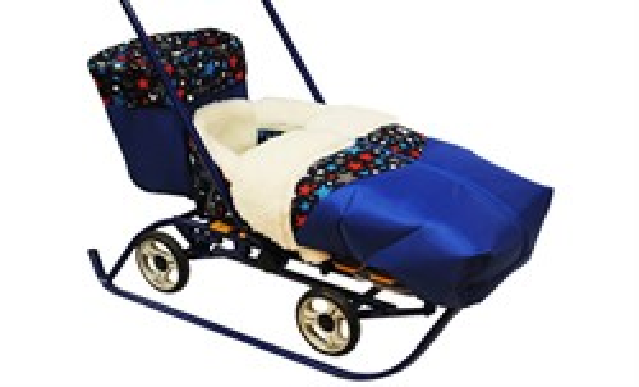 Багажник для санимобиля ПРЕМИУМ синий - фото 9542