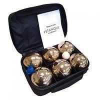 Набор для игры в петанк, 6 шаров золотой - фото 9949