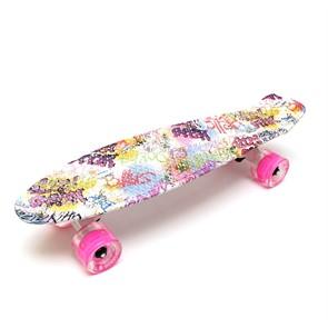 """Скейт 22"""" светящиеся колеса Sweety TLS-401G Triumf Active"""