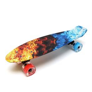 """Скейт 22"""" светящиеся колеса Triumf Active TLS-401G Flames"""