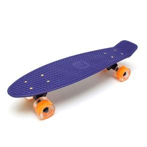 "Скейт 22"" светящиеся колеса Triumf Active синий TLS-401L Navy Blue"
