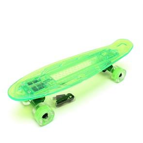 """Скейт 22"""" светящийся Triumf Active зеленый TLS-403 Green"""