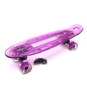 """Скейт 22"""" светящийся Triumf Active розовый TLS-403 Purple"""