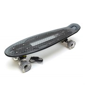 """Скейт 22"""" светящийся Triumf Active черный TLS-403 Grey"""