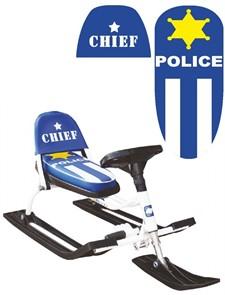 Снегокат Police Comfort Auto со складной спинкой