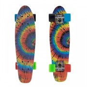 Скейтборд Shark бамбуковый радуга