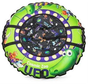 Надувные санки-ватрушка (тюбинг) Small Rider UFO (CZ) зеленый динозаврик
