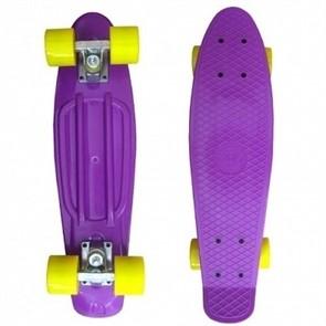 Пластборд ecoBalance фиолетовый с желтыми колесами