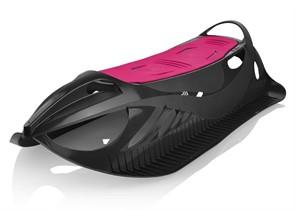 Детские пластиковые санки Gismo Riders Neon Grip черно-розовый