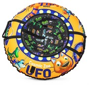 Надувные санки-ватрушка (тюбинг) Small Rider UFO (CZ) оранжевый тигренок
