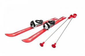 Детские лыжи с палками и креплениями Gismo Riders Baby Ski, 90 см (Чехия) красные