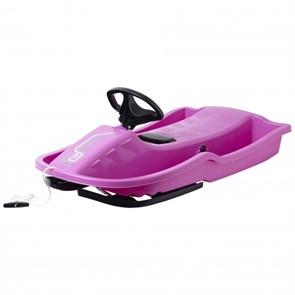 Снегокат-санки Stiga Snowpower Steering Sledge Pink Black розовый