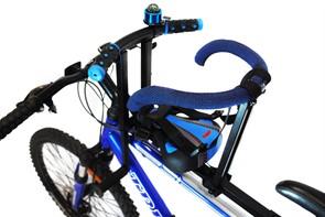 Велокресло детское для любых моделей велосипедов до 35 кг синее