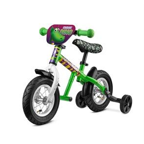 Легкий алюминиевый беговел с колесиками и подножкой Small Rider Ballance 2 зеленый