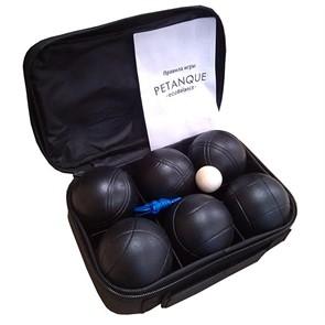 Набор для игры в петанк, 6 шаров черный