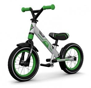 Алюминиевый беговел с 2 амортизаторами, 2 подножками Small Rider Roadster Pro зеленый
