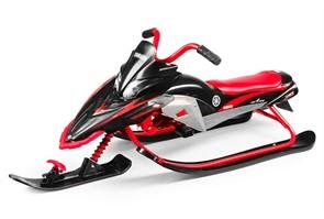 Детский снегокат Yamaha Apex Snow Bike MG 2020 мягкое сиденье черно-красный