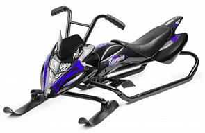Снегокат-снегоход Small Rider Scorpion черный с синим