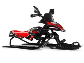 Снегокат-снегоход Small Rider Scorpion SOLO одна лыжа спереди черный с красным