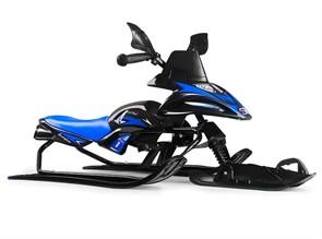 Снегокат-снегоход Small Rider Scorpion SOLO одна лыжа спереди черный с синим