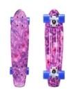 """Скейтборд пластиковый Playshion 22"""" фиолетовый космос"""